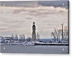 01 Winter Light House Acrylic Print by Michael Frank Jr