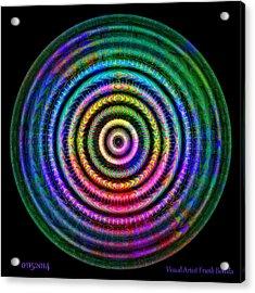 Acrylic Print featuring the digital art #01152014 by Visual Artist Frank Bonilla