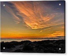 Warm Evening Glow On The Southwest Florida Suncoast Acrylic Print by Frank J Benz