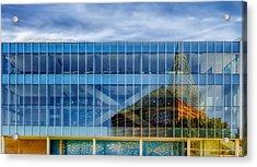 Aquarium Reflection - Chattanooga Acrylic Print