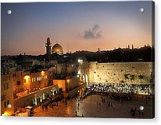 017 Jerusalem Acrylic Print by Alex Kolomoisky
