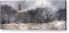 0243 Grosse Point Lighthouse Evanston Illinois Acrylic Print