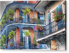 0255 Balconies - New Orleans Acrylic Print