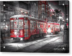 0271 Canal Street Trolley - New Orleans Acrylic Print