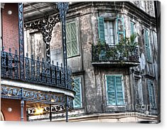 0275 New Orleans Balconies Acrylic Print