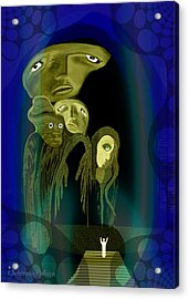 028 -  The  Arrival Of The Gods  Acrylic Print