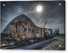 03.21.14 Csx Switcher - Co Caboose Acrylic Print by Jim Pearson