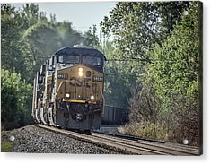 05.07.14 Csx Coal Train At Nortonville Ky Acrylic Print by Jim Pearson