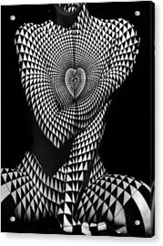0622 Abstract Art Geometric Female Form  Acrylic Print