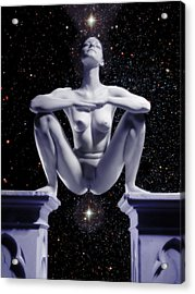 0734 Nude Woman On Star Altar Acrylic Print
