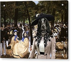 English Cocker Spaniel Art Canvas Print Acrylic Print by Sandra Sij