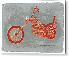Motorcycle Art Sketch Poster Acrylic Print by Kim Wang