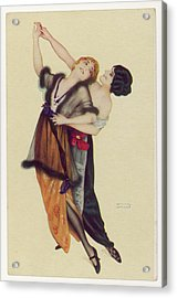 Two Stylishly Dressed Ladies  Dance Acrylic Print by Mary Evans Picture Library