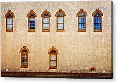 Office Windows Overlooking Side Street Acrylic Print by Frank J Benz