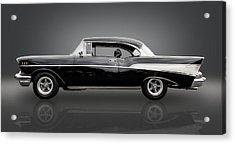 1957 Chevrolet Bel Air Acrylic Print by Frank J Benz