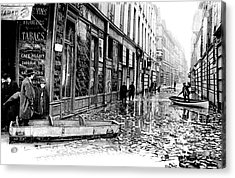 10th Century Flooded Paris Street Acrylic Print by Collection Abecasis