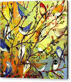 16 Birds Acrylic Print by Jennifer Lommers