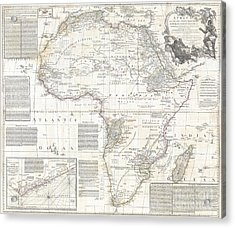 1794 Boulton And Anville Wall Map Of Africa Acrylic Print by Paul Fearn