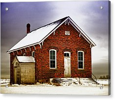 Acrylic Print featuring the photograph 1890 School House by JRP Photography
