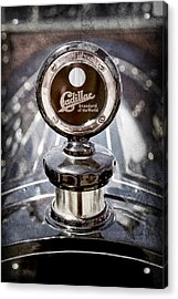 1911 Cadillac Roadster Hood Ornament - Moto Meter Acrylic Print by Jill Reger