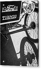 1911 Ford Model T Torpedo Grille Emblem Acrylic Print by Jill Reger