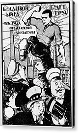 1920s Soviet Propaganda Poster Acrylic Print