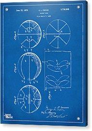 1929 Basketball Patent Artwork - Blueprint Acrylic Print by Nikki Marie Smith