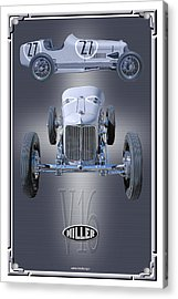 Acrylic Print featuring the photograph 1932 Miller V16 by Ed Dooley