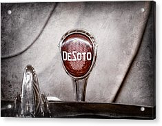 1934 Desoto Airflow Coupe Taillight Emblem Acrylic Print by Jill Reger