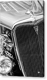 1934 Ford Deluxe Hot Rod Grille Emblem Acrylic Print