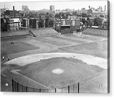 1937 Wrigley Field Scoreboard Acrylic Print by Retro Images Archive
