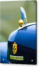 1942 Lincoln Continental Cabriolet Hood Ornament - Emblem Acrylic Print by Jill Reger