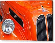 1948 Anglia 2-door Sedan Grille Emblem Acrylic Print by Jill Reger
