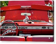 1950s Chevrolet Impala Detail Acrylic Print