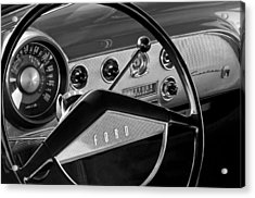 1951 Ford Crestliner Steering Wheel Acrylic Print by Jill Reger