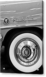 1951 Mercury Montclair Convertible Wheel Emblem Acrylic Print by Jill Reger