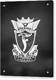 1953 Siata Daina Farina Emblem Acrylic Print by Jill Reger