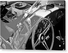 1955 Ac Cobra Steering Wheel And Engine Acrylic Print