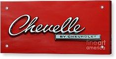 1965 Chevy Chevelle Logo Acrylic Print