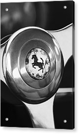 1955 Ferrari 250 Europa Gt Pinin Farina Berlinetta Steering Wheel Emblem Acrylic Print