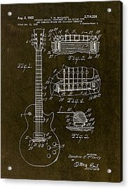 1955 Gibson Les Paul Patent Drawing Acrylic Print