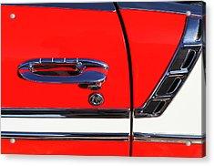 1956 Chevrolet Belair Convertible Custom V8 Door Handle Acrylic Print by Jill Reger