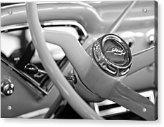 1957 Chevrolet Cameo Pickup Truck Steering Wheel Emblem Acrylic Print