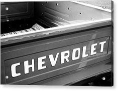1957 Chevrolet Pickup Truck Emblem Acrylic Print by Jill Reger