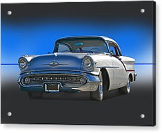 1957 Custom Oldsmobile Acrylic Print by Dave Koontz