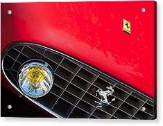 1957 Ferrari 410 Superamerica Series II Grille Emblem Acrylic Print by Jill Reger