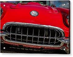 1958 Chevrolet Corvette Grille Acrylic Print