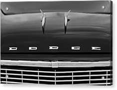 1958 Dodge Coronet Super D-500 Convertible Hood Ornament Acrylic Print by Jill Reger