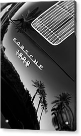 Acrylic Print featuring the photograph 1959 Porsche 356 A 1600 Convertible D Rear Emblem by Jill Reger