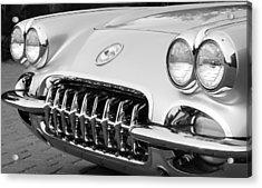 1960 Chevrolet Corvette Grille Acrylic Print by Jill Reger